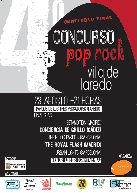 'The Royal Flash', ganadores de la cuarta edición del Concurso Pop-Rock 'Villa de Laredo'.